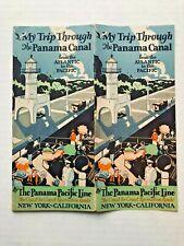 Nice 1929 Panama Canal Souvenir Travel Brochure Booklet w/ Amazing Cover Art