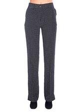 Equipment Femme Lita Women's Pants Size 4 Black White Polka Dot Silk Trouser