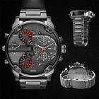 Luxury Men Fashion Stainless Steel Sport Military Analog Quartz Wristwatch Watch