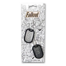 Fallout 3 4 101 Vault Boy Dog Tag Tags Metal Keychain Official Rare NEW