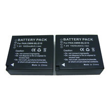 2X Battery For Panasonic LUMIX DMW-BLG10E DMC- TZ100 LX100 GX7 GF6 TZ80 TZ81