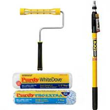 """2-4 Purdy PowerLock Extension Pole ,9""""  Paint Roller Frame, 9"""" Colossus & Dove"""