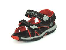 Timberland Mad River Boys Toddler Black Red Casual Shoes 2 Strap Sandals 54823DS
