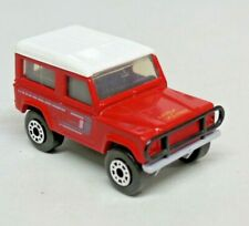 Vintage Matchbox Land Rover Ninety County Red White Top 1987 Macau Loose 1:62