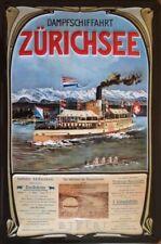 Dampfschifffahrt Zürichsee Blechschild 20x30cm Fahrplan Schweiz Dampfschiff