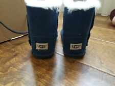 UGG size 4/5 Toddler Blue Baby Boots! First Walker Rubber Soles.