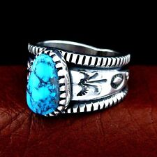 Jim Harrison Navajo Sterling Silver Turquoise Men's Ring Size 12.5--- R14 D T
