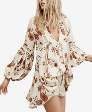 Free People Just The Two Of Us Printed Tunic Ivory Large