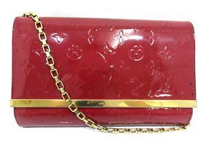 Auth LOUIS VUITTON Vernis Clutch Ana M90092 Chain Shoulder Bag Clutch Bag 95864