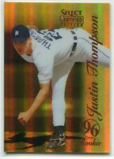 1996 Select Certified Mirror Gold 127 Justin Thompson /30