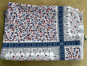 The Prairie by Rachel Ashwell Blue Floral Rectangle Tablecloth