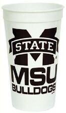 MISSISSIPPI STATE BULLDOGS STADIUM TYPE CUPS 32OZ SET OF 4 TAILGATING BRAND NEW