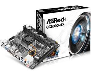 ASRock QC5000-ITX - AMD FT3 Kabini A4-5000 Quad-Core APU