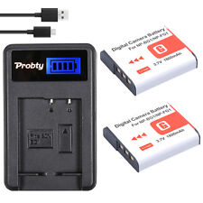 2x NP-BG1 BG1 Batteries + LCD Charger for SONY Cyber-shot DSC-H3 DSC-H7 DSC-H9