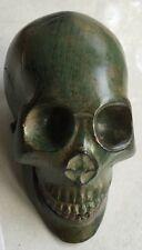 Skull Bronze Head Sculpture Statue Figure Skeleton All Metal Freaky Evil