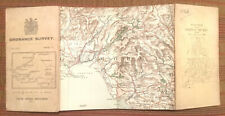 Antique ORDNANCE SURVEY Cloth Backed Map - Sheet 5: WALES. 1913.