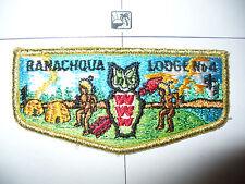 OA Ranachqua Lodge 4,S-9b,1980s Owl, Indians Flap,GMY, Greater New York,Bronx,NY
