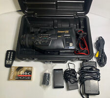 JVC GR-M7 PRO Compact VHSC Video Camera With Battery Case And Accessories strap