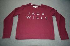 Jack Wills Ladies Jumper long slleve jumper red burgandy size 8