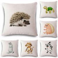 18inch Animal Cotton Linen Throw Pillow Case Cushion Cover Home Sofa Decor