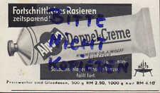 BIELEFELD, Werbung 1939 Dr. A. Wolff Alpecin Haar-Haut-Rasier-Pflegemittel Creme