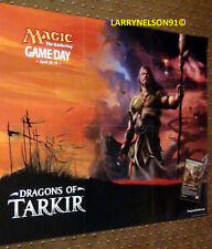 MTG DRAGONS OF TARKIR GAME DAY POSTER DOUBLE SIDED MAGIC THE GATHERING SENTINELS