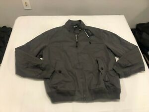 NWT $228.00 Polo Ralph Lauren Mens Canvas Twill Bomber Jacket Combat Gray LARGE