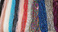 Joblot 12 strings mixed colour Tear drop shape Crystal beads new wholesale lot F