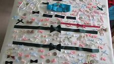 200 assorted ribbon bows crafts scrapbooking        033