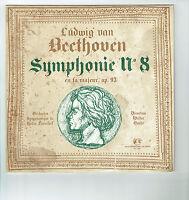 33T 25cm BEETHOVEN Disque Classique SYMPHONIE N° 8 Walter GOEHR -GID F Rèduit