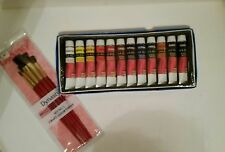 Jack Richeson Watercolor Paint & Dynasty Brush Set 12x12ml Tubes New