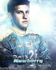 "2014 BRENNAN NEWBERRY ""NTS MOTORSPORTS"" #9 NASCAR CWTS TRUCK POSTCARD"