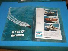 PUBBLICITA' 1972 ADVERT WERBUNG SPEEDBOAT MOTOSCAFO RIVA SARNICO RUDY FISHERMAN