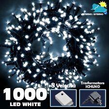 Catena Luminosa 1000 LED Luci Albero Natale Lucciole Bianco Freddo Esterno 24V
