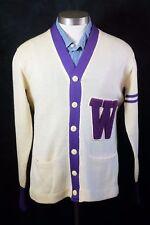 Vintage 1950s Waukee High School Varsity Letterman Sweater Des Moines Iowa Steen