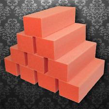 DIXON Orange White 3 Way Nail Buffer Buffing Sanding block File 100/180 -case