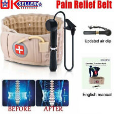 Spinal Air Traction Physio Decompression Back Belt Brace Lumbar Pain Lower Waist