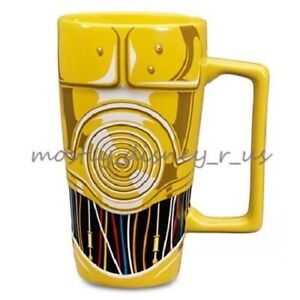 New Disney Store Exclusive Star Wars C-3PO Droid Ceramic Coffee Mug Sculpted