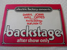 Hall & Oates w/Karla DeVito -BS pass AFTER SHOW -Tower Theater 2nd Night 11/15