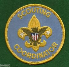 BOY SCOUT ADULT POSITION PATCH - SCOUTING COORDINATOR - PLASTIC BACK
