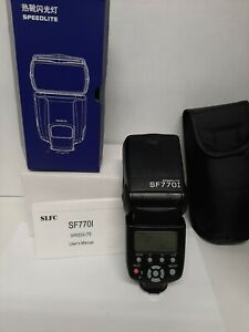SLFC SF770I Flash Speedlite for Canon Nikon Pentax Olympus Cameras untested read