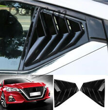 For Nissan Altima 2019 2020 Rear Window Side Louvers Vent trim Black Accessories