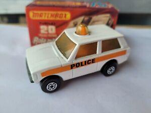 MATCHBOX SUPERFAST - POLICE PATROL [WHITE] MINT VTHF ORANGE POLICE DECALS