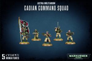 WARHAMMER 40K ASTRA MILITARUM CADIAN COMMAND SQUAD BNIB