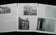 GEORGIAN HOUSE ARCHITECTURE IN CHICHESTER WEST SUSSEX 3pp PHOTO ARTICLE 1966
