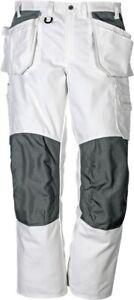 Fristads Craftsman cotton trousers 258 BM White Painters Trousers Decorators Tro