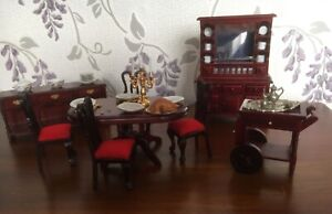 Doll House Dinning Room Furniture 1/12 scale
