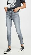 Mother Denim The Swooner Ankle Zip in Static 26