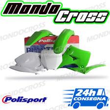 Kit plastiche cross mx POLISPORT Verde Bianco KAWASAKI KX 125 2004 (04)!