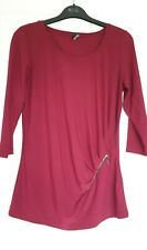 Excellent Condition Best Connection Wine 3/4 Sleeved Top Size 10